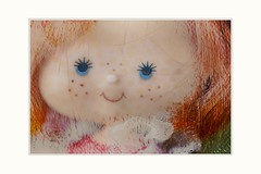 I hate my freckles, what do you think (Krasne oci) Tags: doll photoart cute children play sweet lovely texturedphoto creative painterly original artphoto evabartos panenka