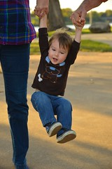 Flying good times (radargeek) Tags: waco tx texas downtown family kid baby happy swinging