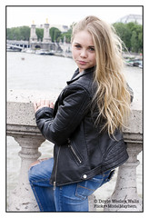 Britney, on a Bridge in Paris (Doyle Wesley Walls) Tags: bb 0117 woman girl female mdchen ragazza flicka fille dziewczyna chica ena mujer femme kobieta donna femenino fminin weiblich femminile kvinna teen portrait photograph feminine beautiful beau bonita hermosa guapa vacker kaunis bonito lindo frumos mooi schn skjnn fallegur bello sexy sduisant seksowny seductor sexig sexet  blonde rubia lips lovely gorgeous stunning beauty bridge eyes ojos yeux blick gon jacket jeans denim retrato ritratto portrt portret face cara faccia gesicht longhair britney doylewesleywalls parisienne
