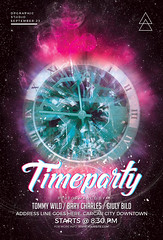 Time Party Flyer (DesignerwooArt) Tags: 300dpi 3d abstract advertising alien alternative artwork bass broken city cmyk design dj dope download drum electro event fest festival flyer free future futuristic galaxies galaxy geometry high hiphop house invitation man manipulation minimal minimalist minimalistic modern music party photoshop poster print psd rap rock sky smoke sound sounds space tech techno template trap triangle triangles trippy universe urban dubstep geometrix art hipster robot
