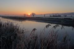 WInter sunrise (brittajohansson) Tags: outdoor sky sunrise sun water waterscape landscape winter mist cold frost moody atmosphere
