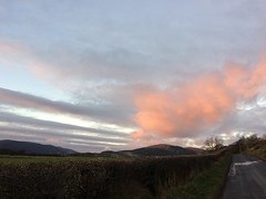 Big pink cloud (goforchris) Tags: winter ardyne lowsun sky sunset cowal argyll scotland