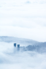 Andlau, Alsace (Bruno MATHIOT) Tags: alsace france french europe mist fog brouillard nature castle chateau eos canon 55250 760d outdoor randonne hiking mono monochrome blue bleu tone cold froid minimal