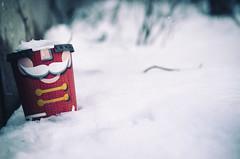 Discarded Nutcracker (flashfix) Tags: december062016 2016 2016inphotos nikond7000 nikon ottawa ontario canada 40mm garbage discarded cup togocup timhortons snow nutcracker christmas festive holidays winter thingsnotinthisphotojackalopes