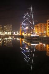 0227 (ElitePhotobox2) Tags: imo 9222314 stavros s niarchos liverpool docks luminance hdr krita linux night reflections xmas lights tall ship sail