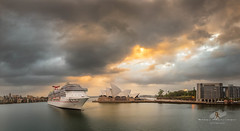 The Arrival (Bobby Krstanoski - Photography) Tags: australia buildings canon canon5dmarkiii canonef1635f28 carnivalspirit cruiseships dawespoint eastcoastaustralia harbour landscape nsw operahouse outdoor panoramic places raining sailiing ship stormclouds summer sunrise sydney sydneyharbour