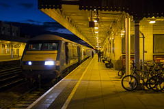 Night time express: Cardiff Central (Dai Lygad) Tags: cardiff central station trains railways railroads driver dvt drivingvantrailer pushpull winter hiver january 2017 arriva wales trenau cymru rail terminal terminus caerdydd uk britain paysdegalles vehicles travel public evening nighttime 82 82307 south north holyhead platform bikes 1w96 flickr jeremysegrott mkiii mk3 carriages drivingtrailers canopy canon camera 550d photograph picture image photography geotagged bahn поезд vlak trein 列車 transportation view world lights shot eos sigmalens city wagexpress premierservice businessclassservice atnight unitedkingdom british locohauled locomotivehauled
