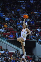 TENNESSEE CHEERLEADER (SneakinDeacon) Tags: ut cheerleaders tennessee volunteers tournament sec ncaa minutemen umass a10 vols atlantic10 pncarena