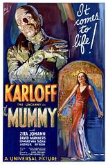 the mummy 1932 (Al Q) Tags: film 1932 movie poster theater mummy karloff