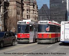 Toronto 4209 4224 Queen & Bay (TonyW1960) Tags: toronto ttc tram queenbay