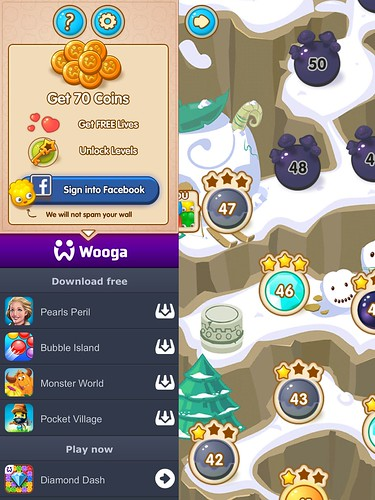 Jelly Splash Social, Login: screenshots, UI