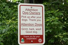 Dog sign (Maryann's*****Fotos) Tags: dogs sign humor indiana carmel municipal in mffotosoldsaybrook