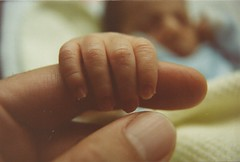 Jason Newborn in 1991 (gary woody photography) Tags: baby kids children happy hand miracle touch son tiny newborn