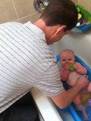 "Daddy Gives Paul a Bath • <a style=""font-size:0.8em;"" href=""http://www.flickr.com/photos/109120354@N07/14592201369/"" target=""_blank"">View on Flickr</a>"