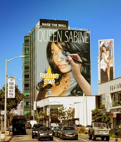 Queen Sabine On Sunset Strip Billboard