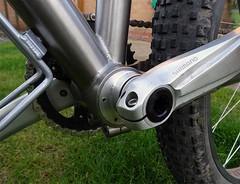 ebb (Travers Bikes) Tags: bike speed er angus bottom bracket bikes chain single frame plus singlespeed eccentric 29 custom titanium tension 29er crank ebb bearing bespoke axle tensioner travers chainset