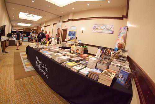 New Life book table in Dallas