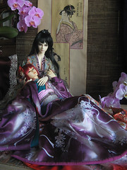 Inarisan Crafts_amorous tales_11 (Inarisan) Tags: japan vintage asian doll ooak crafts silk sd geisha historical kimono bjd superdollfie abjd edo granado inarisan loongsoul iwakisama sokuto