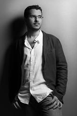 Hamed (Ibrahim.Alghamdi) Tags: portrait bw model saudi arabia jaket