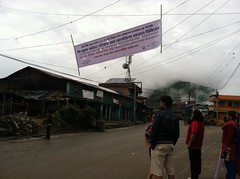 The banner gets of the ground (The Advocacy Project) Tags: nepal camp people nature rural project justice women asia peace social womens medical health human rights medicine care fellowship fellows prolapse advocacy uterine