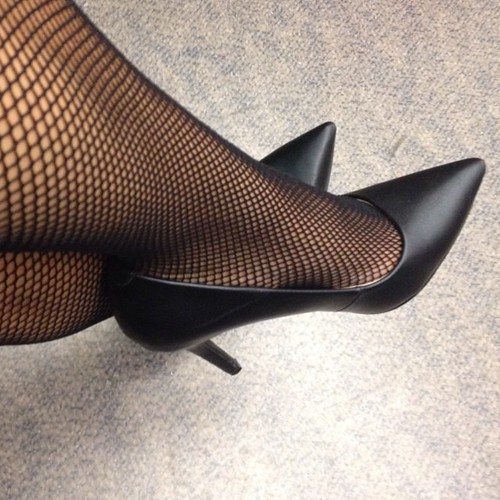 Black high heels and stockings final, sorry