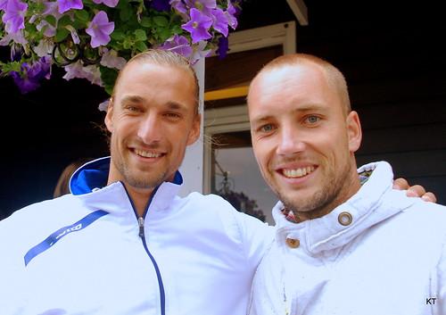 Steve Darcis - Ruben & Steve & some nice flowers :)