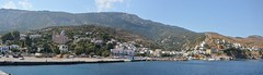 Agios Kyrikos port of Ikaria(panoramic) (kutruvis nick) Tags: houses sea mountains nature water port buildings landscape island greek nikon harbour ikaria hellas panoramic greece nik aegeansea agioskyrikos d5100 kutruvis