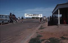 Friends finish the Simpson Desert Challenge (spelio) Tags: history bike race 1987 mary hans bikes slide spokesman birdsville thulstrup tholstrop