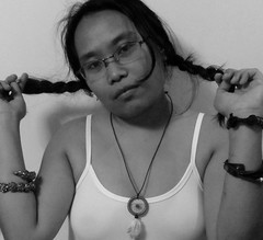 Pigtails (mikeeliza) Tags: portrait woman white black hot sexy girl beautiful dark hair neck asian glasses necklace long pretty arms skin bare low philippines dream young curvy blouse na exotic figure manila bracelets shoulders pinay filipina transparent brunette catcher eliza ethnic batang dreamcatcher babae itim balat kayumanggi dalaga magandang buhok mainit medyo mikeeliza asyano