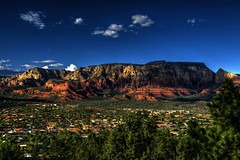Butte Morning (Jersey JJ) Tags: arizona colors butte scenic sedona az viewpoint hdr