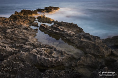 Cliff at Sunset (kiar@) Tags: longexposure sunset cliff rock mallorca sacoma puntadenamer