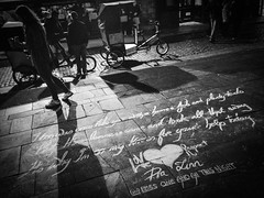 Love & Respect (& Homelessness) (Daveybaby00) Tags: city ireland bw dublin love night town blackwhite respect august iphone 2014 homelessness ❤ dublincity loverespect iphone5