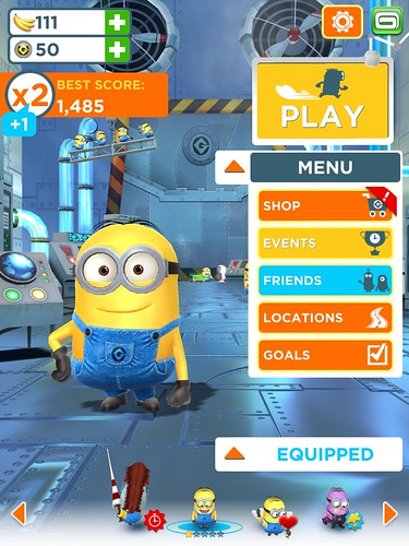 Despicable Me: Minion Rush Level Setup: screenshots, UI