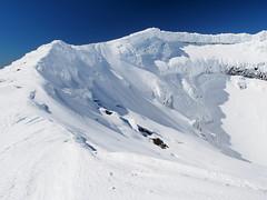 Mt Ngauruhoe Summit Crater (blue polaris) Tags: park new winter snow ice landscape island volcano climb scenery mt crossing north olympus mount zealand alpine national summit tongariro ngauruhoe omd em5