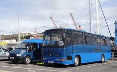 Tantivy 112 & 1 (Coco the Jerzee Busman) Tags: uk bus ford islands coach pointer transit cannon jersey swift channel leyland stringer wadham lcb plaxton tantivy