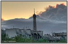 Storm clouds over Eiffel Tower (alcowp) Tags: sky storm paris france tower clouds tour dusk eiffel orage fra