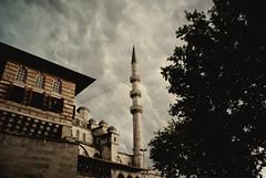 Adhan of the Storm (Andrawes Islam) Tags: new storm rain peace minaret muslim islam praying istanbul mosque cami salat masjid yeni fajr adhan