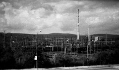 Praktica BC1 - Industrial Landscape (Kojotisko) Tags: brno cc creativecommons czechrepublic praktica prakticar prakticabc1 prakticabc1electronic prakticab ilfordsurveillancep3 prakticar118f50mm prakticar118