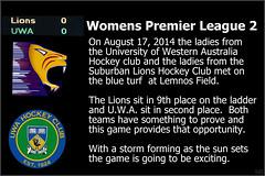 UWA Womens 2 vs Lions_ (1) (Chris J. Bartle) Tags: ladies 2 hockey field club university suburban australia august western lions wa 17 uni 2014 uwa lemnos