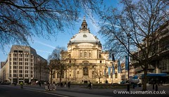 Methodist Central Hall (Smartin69) Tags: park street old city uk travel blue england sky urban building tree london english tourism church westminster statue architecture facade john square landscape religious hall europ