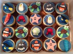 Ocean life cupcakes, Randolph, North Carolina, www.birthdaycakes4free.com