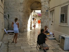 lady in the passage (Antonjov) Tags: woman lady croatia split passage