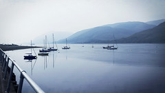 Boats at Fort William (JB Knibbs) Tags: blue sea water landscape boats coast scotland highlands hills fortwilliam