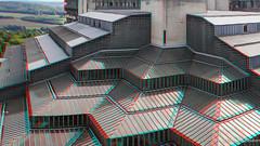 3D CHU de Lige anaglyph (Louloulerot) Tags: roof architecture modern hospital 3d university pyramid belgium belgique belgie universit anaglyph line moderne chu toit pyramide glas luik ligne verre lige wallonie hpital luttig rgionwallonne