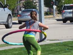 Hula-hoop entertainment (jamica1) Tags: charity canada girl car hoop bc okanagan hula columbia wash british kelowna hulahoop