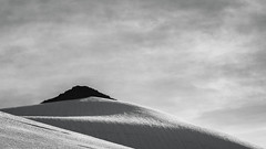 Fin (zh3nya) Tags: shadow sky blackandwhite snow mountains rock landscape baker hiking ridge mount alpine pacificnorthwest wa washingtonstate pnw minimalist heliotrope snowscape 55200mmf456 kulshan d3100