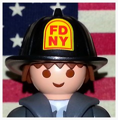 Gratitude (Dad 2 Three Celestials) Tags: 2001 newyork toy toys fire 11 september figure tribute 11th fdny department pentagon playmobil nyfd eleventh patriotday flickrandroidapp:filter=none