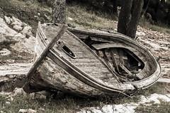 fishing boat taken out of service (borowski.peter) Tags: out found boat fishing taken croatia peter service cavtat borowski