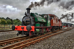 R. & W. Hawthorn Steam Train (Peter Storr) Tags: green train smoke stock engineering trains steam engines rails rolling locomotion steaming shilden