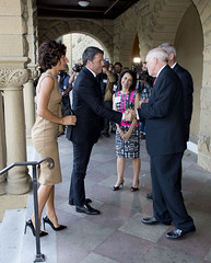 San Francisco (Stati Uniti). Arrivo del Presidente  Renzi alla Stanford University (21/09/2014)